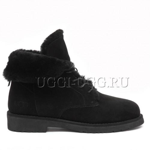 Женские угги ботинки черные UGG Quincy Boot Black