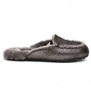Тапочки лоферы черные блестящие UGG Lane Slip-on Loafer Glitter Black