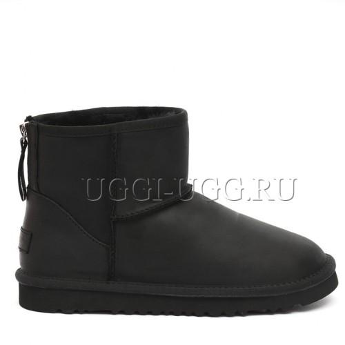 Черные мужские угги на молнии мини UGG One Zip Mini Boot Mens Black