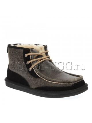 Мужские угги ботинки черные бомбер UGG Mens Bosley Black