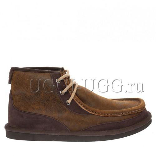 Мужские угги ботинки рыжие бомбер UGG Mens Bosley Chestnut