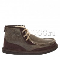 Мужские угги ботинки коричневые бомбер UGG Mens Bosley Chocolate