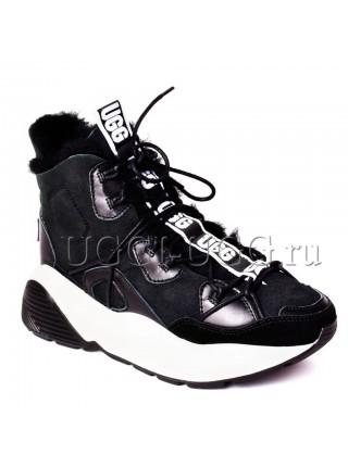 Женские угги кроссовки черные UGG Boots Cheyenne Black