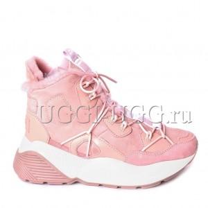 Женские угги кроссовки розовые UGG Boots Cheyenne Dusk