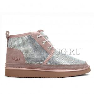 Ботинки угги в стразах розовые UGG Neumel Serein Dusk