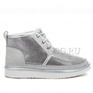 Ботинки угги в стразах серебряные UGG Neumel Serein Silver