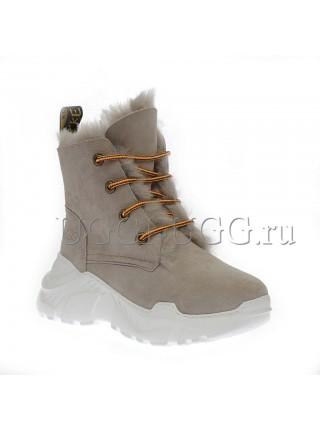 Женские угги кроссовки серые UGG Boots Classic Grey Violet