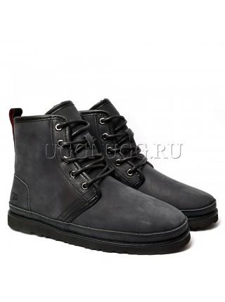 Мужские ботинки угги черные UGG Mens Harkley Waterproof Boot Black