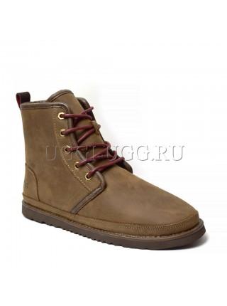 Мужские ботинки угги каштановые UGG Mens Harkley Waterproof Boot Grizzly