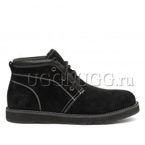 Мужские ботинки с мехом черные UGG Iowa Men Boots Black