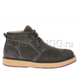 Мужские ботинки с мехом серые UGG Iowa Men Boots Grey