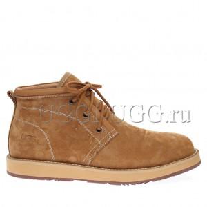 Мужские ботинки с мехом рыжие UGG Iowa Men Boots Chestnut
