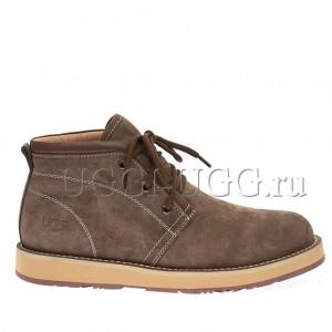 Мужские ботинки с мехом коричневые UGG Iowa Men Boots Chocolate