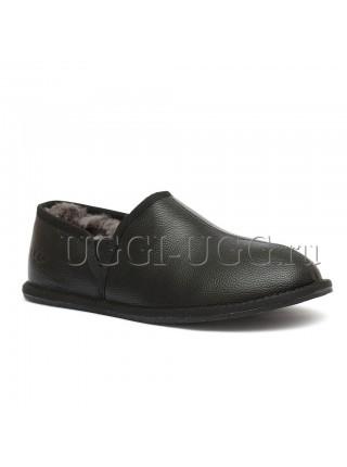 Мужские слиперы черные UGG Men's Scuff Romeo II Metallic Black