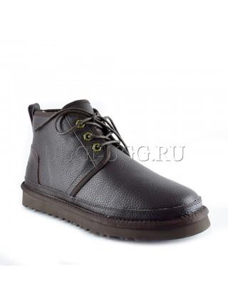 Женские ботинки угги коричневые кожаные UGG Neumel Boot Leather Chocolate