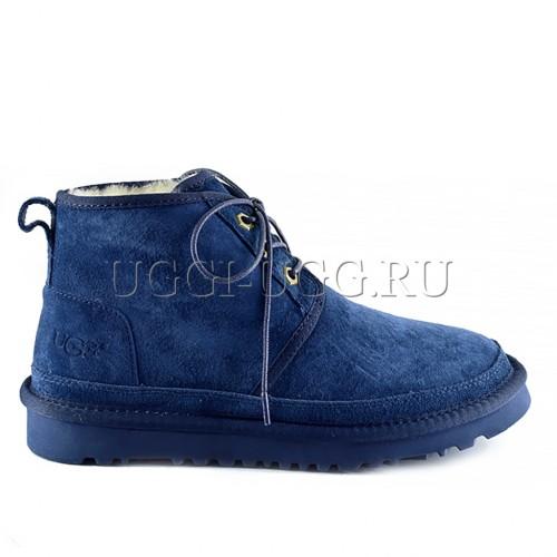 Женские синие угги ботинки UGG Neumel Boot Navy