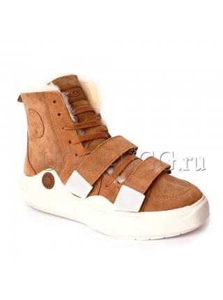 Женские угги ботинки рыжие UGG Boots Sioux Chestnut