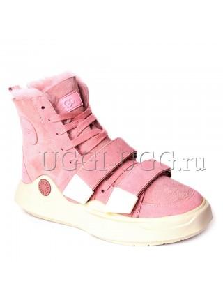 Женские угги ботинки розовые UGG Boots Sioux Dusk