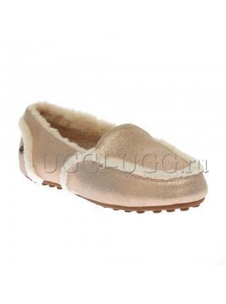 Лоферы угги розовые UGG Hailey Loafer Glitter Pink