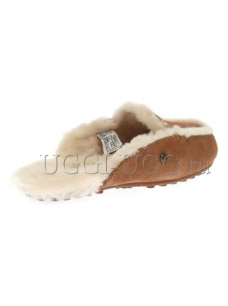 Женские тапочки лоферы UGG Lane Slip-on Loafer Chestnut