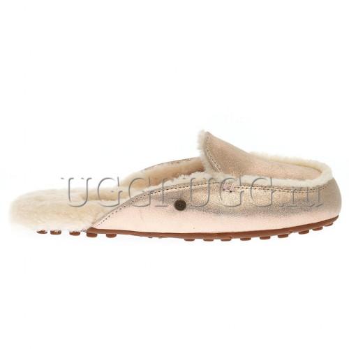 Женские тапочки лоферы UGG Lane Slip-on Loafer Glitter Pink