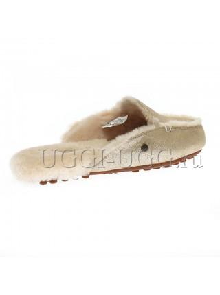 Женские тапочки лоферы UGG Lane Slip-on Loafer Glitter Gold