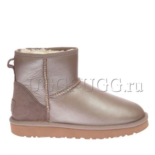 Женские мини угги розовые UGG Classic Mini II Dusk