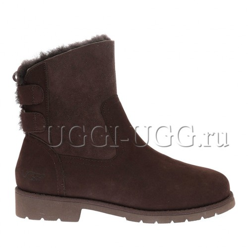 Женские угги ботильоны коричневые UGG Naiyah Boot Chocolate