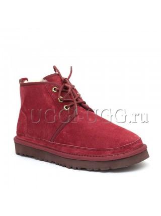Женские ботинки угги бордовые UGG Neumel Boot Port