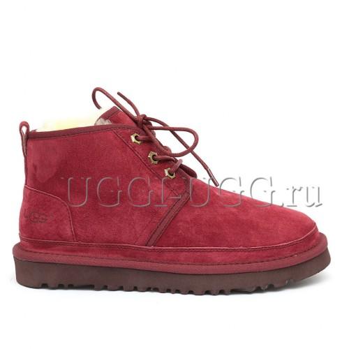 Женские бордовые угги ботинки UGG Neumel Boot Port