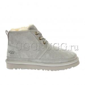 Женские ботинки угги серые замшевые UGG Neumel Boot Grey Violet