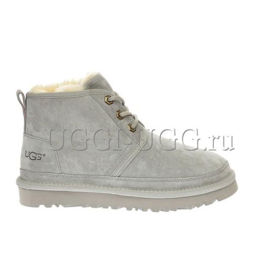 Женские угги ботинки серые замшевые UGG Neumel Boot Grey Violet