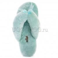 Тапочки угги шлепанцы мятные UGG Fluff Flip Flop Mint