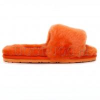 Тапочки угги открытые оранжевые UGG Fluff Slide Orange
