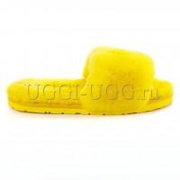 Тапочки угги открытые желтые UGG Fluff Slide Yellow
