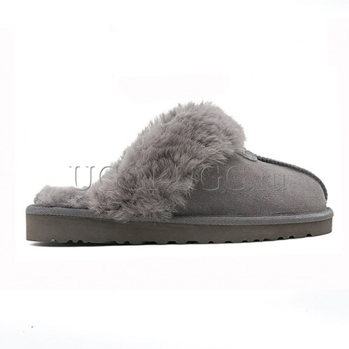 Тапочки угги домашние серые UGG Slippers Scufette Grey