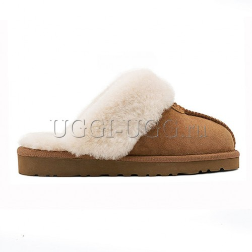 Тапочки угги домашние рыжие UGG Slippers Scufette Chestnut