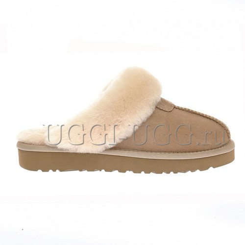 Тапочки угги домашние бежевые UGG Slippers Scufette Sand