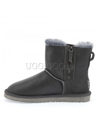 UGG Mini Double Zip Metallic Grey