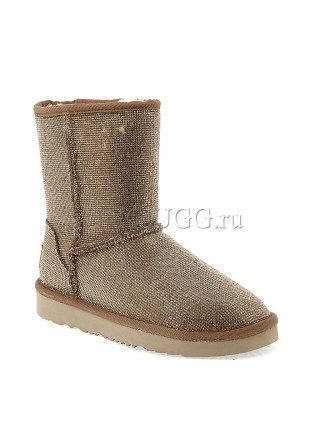 UGG JIMMY CHOO SHORT SEREIN II CHESTNUT