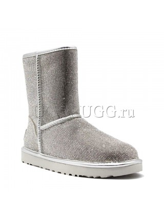 UGG JIMMY CHOO SHORT SEREIN II SILVER