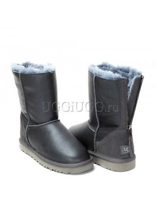 UGG Short Zip Metallic Grey