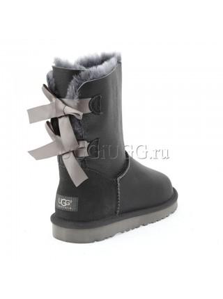 UGG Australia Bailey Bow Metallic Grey