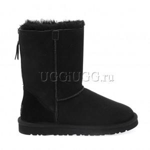 Угги с молнией черные UGG Short Zip Black