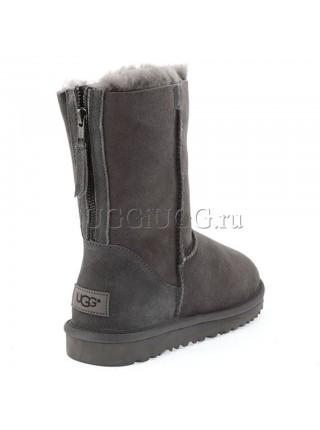 Угги с молнией серые UGG Short Zip Grey