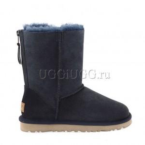 Угги с молнией синие UGG Short Zip Blue
